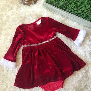 Santa baby! Youngland Christmas dress 3-6 months